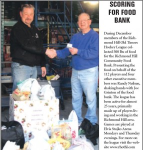 RHOTHL Donation to Food Bank