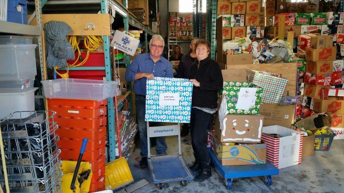 RHOTHL Donation to Richmond Hill Food Bank